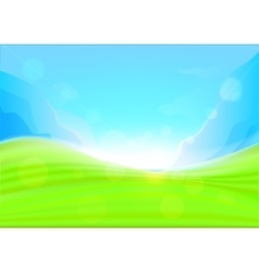 Background summer with glaring sun vector image
