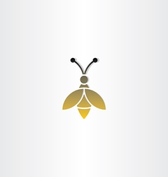 Bee sign logo icon vector