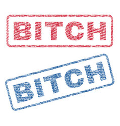 bitch textile stamps vector image