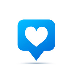 bright blue trendy icon for social network heart vector image