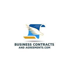 Business agreements contract logo design inspirati vector