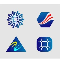 Business logo and Icons Set vector image