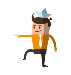 Businessman cute cartoon icon image vector