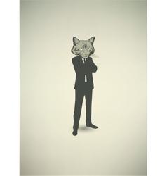Cat Businessman vector