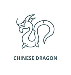 chinese dragon line icon chinese dragon vector image