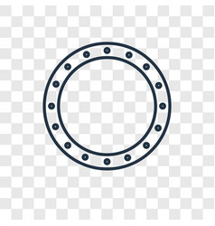 Circle toy concept linear icon isolated on vector