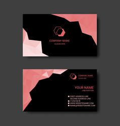 colorful abstract business card templates vector image
