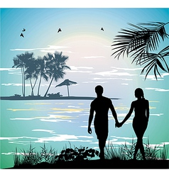 Couple holding hands vector