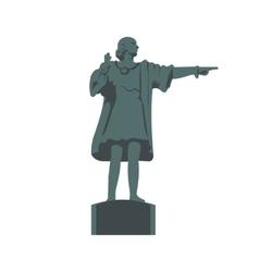 Cristobal Colon sculpture icon vector image