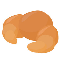 croissant on white background vector image