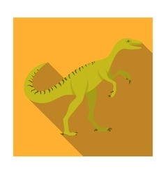 Dinosaur Gallimimus icon in flat style isolated on vector image