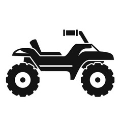 Dirt tire quad bike icon simple style vector