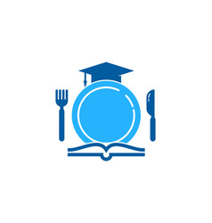 Education food logo icon design vector