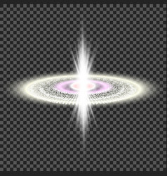 Explosion of a star in space bright glow vector