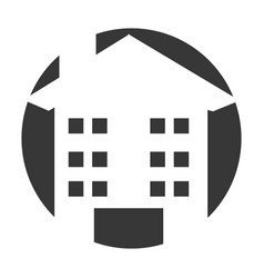Exterior building drawing icon vector