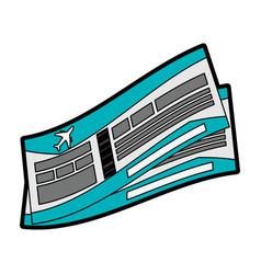 Flight boarding pass icon image vector