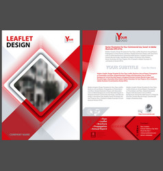 flyer template with diagonal square vector image