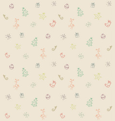 funny seamless christmas pattern vector image