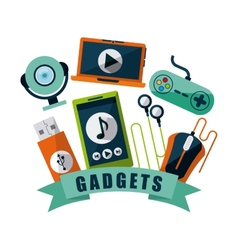 gadgets tech vector image