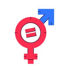 gender equality symbol female sign venus vector image