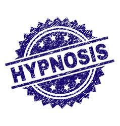 Grunge textured hypnosis stamp seal vector