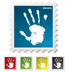 hand print stamp vector image