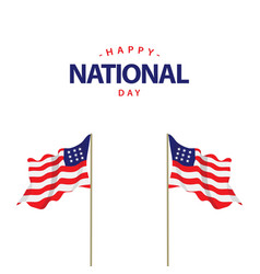 happy usa national day template design vector image