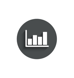 Histogram chart simple icon financial graph vector