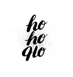 Hoho hand written lettering vector