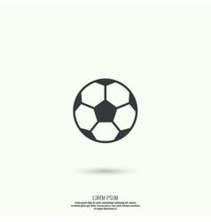 Icon soccer ball vector