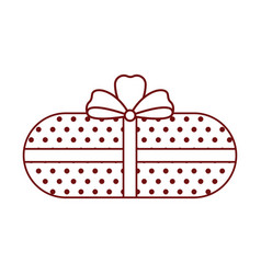isolated christmas present icon vector image
