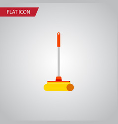 Isolated sweep flat icon cleaner element vector