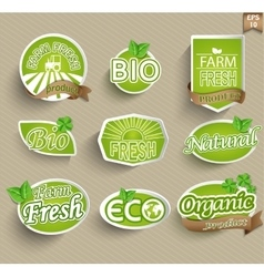 Labels for natural food vector