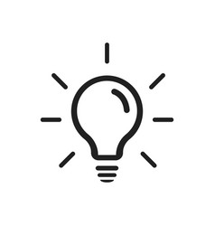 lamp isolated icon symbol idea solution vector image