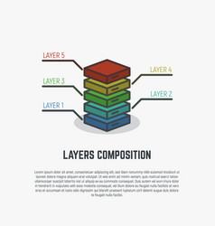 layers simple line vector image