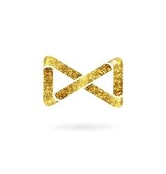 Logo of gold glittering star vector image