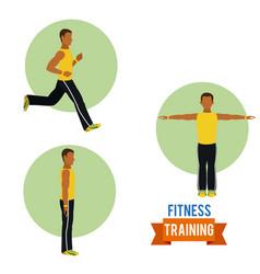 Man fitness training vector