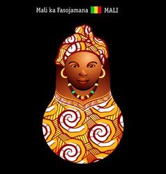 Matryoshka Mali vector