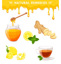 Natural remedies vector