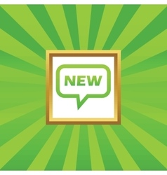 NEW message picture icon vector