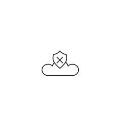 no cloud security icon vector image