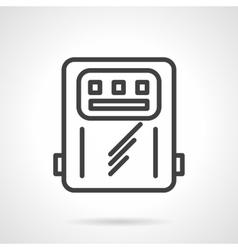 Power counter black line icon vector