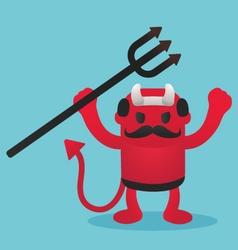 Red devils in Halloween vector image
