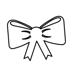 Ribbon bown isolated icon vector