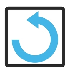 Rotate Left Framed Icon vector