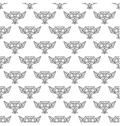 seamless pattern owl vector image