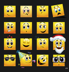 Set of face icons set of face icons with vector