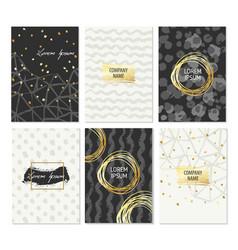 set of hand drawn brochure templates vector image