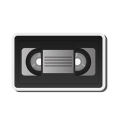 Single videocassette icon vector