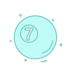 snooker ball icon design vector image